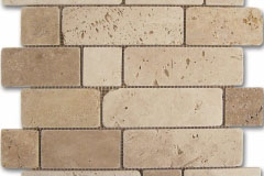 Mosaico Travertino Brick