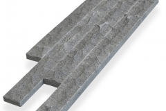 Grey Andesite Chipped